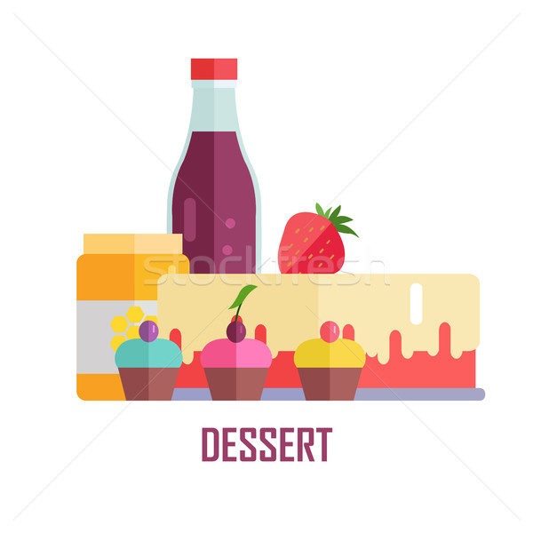 Dessert Vector Conceptual Banner Illustration. Stock photo © robuart