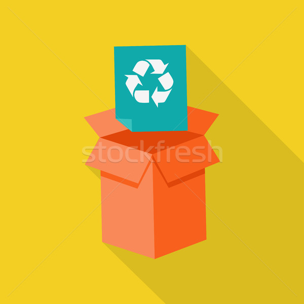 Waste Recycling Icon Stock photo © robuart