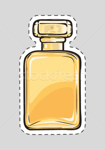 Citromsárga parfüm flakon női szag vág Stock fotó © robuart