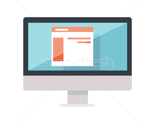 Web design monitor display isolato web Foto d'archivio © robuart