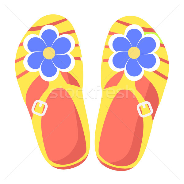 Bright Comfortable Slippers Isolated Illustration Stock photo © robuart