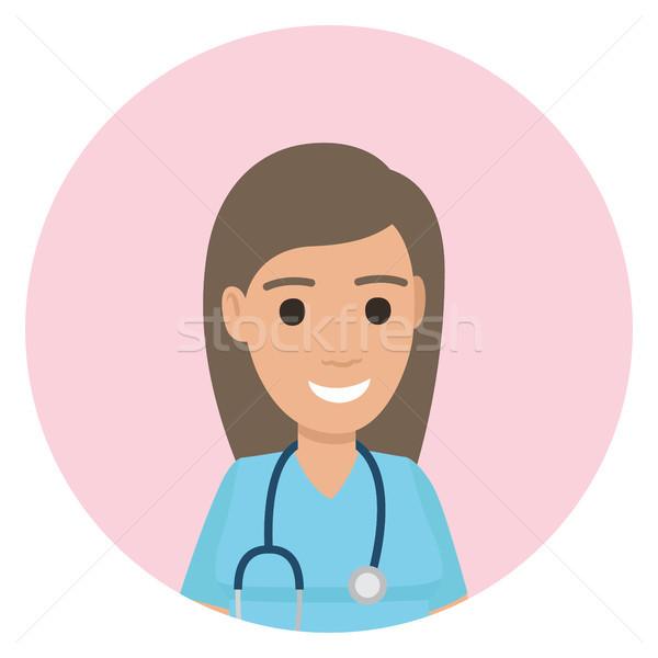 Lekarz uniform stetoskop szyi avatar zawodowych Zdjęcia stock © robuart