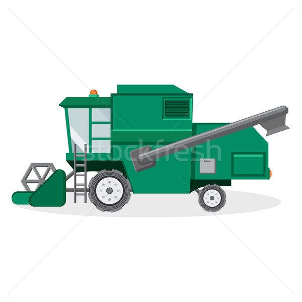 Green Combine Harvester for Farmers Illustration Stock photo © robuart