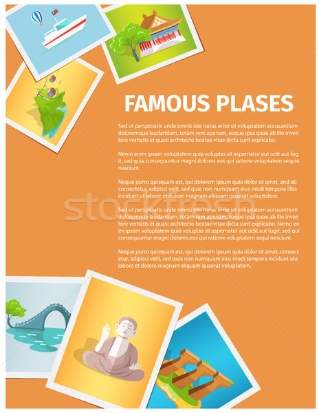 Concept of Famous Places in Taiwan on Photographs Stock photo © robuart