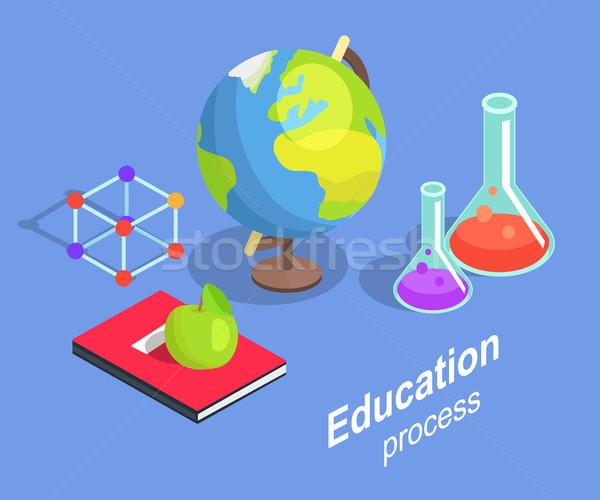 Processo coleção científico objetos isolado Foto stock © robuart