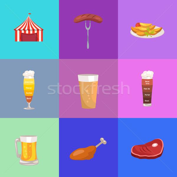 Set of Images Oktoberfest Vector Illustration Stock photo © robuart