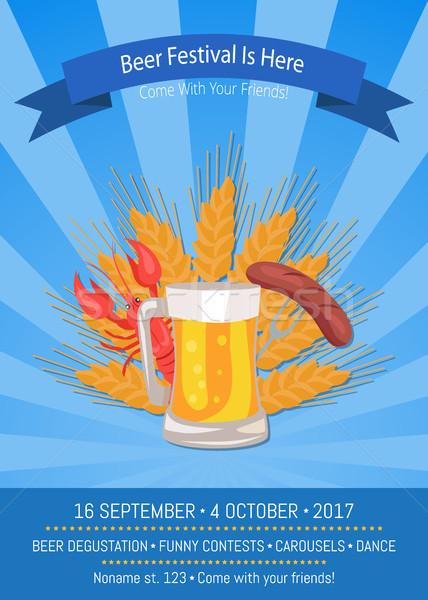 Cerveja festival aqui azul oktoberfest Foto stock © robuart