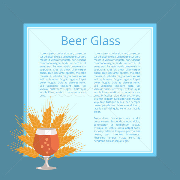 Beer Glass with Wheat Ears Isolated Illustration Stock photo © robuart