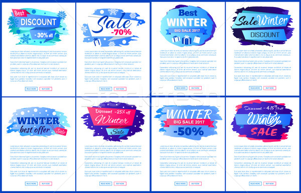 Best Winter Sale Offer Vector Illustration Banners Stock photo © robuart
