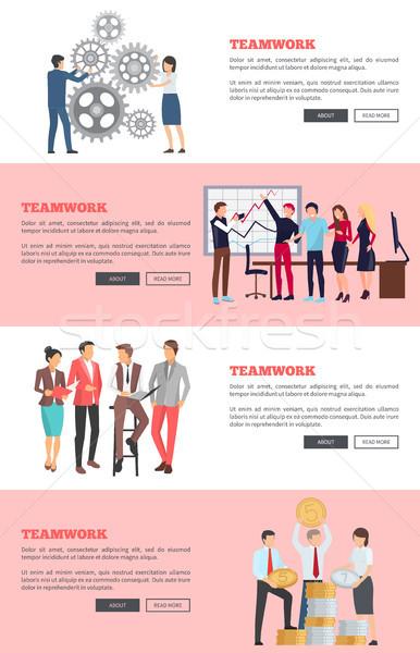 チームワーク ウェブ デザイン 情報 ボタン ストックフォト © robuart