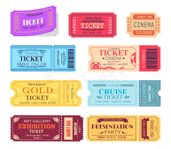 Ticket and Presentation Party Vector Illustration Stock photo © robuart