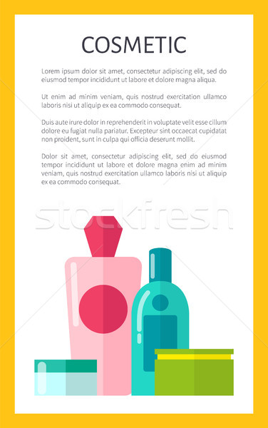 Natural Cosmetics for Skincare Promotional Poster Stock photo © robuart