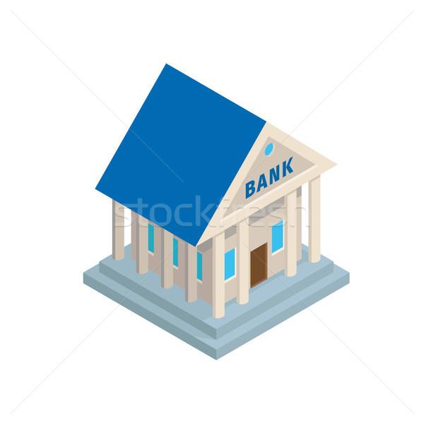 Banka Bina eski stil izometrik ikon Stok fotoğraf © robuart