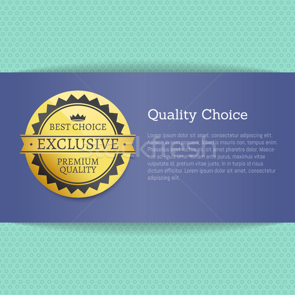 Quality Choice High Award Best Stamp Golden Label Stock photo © robuart