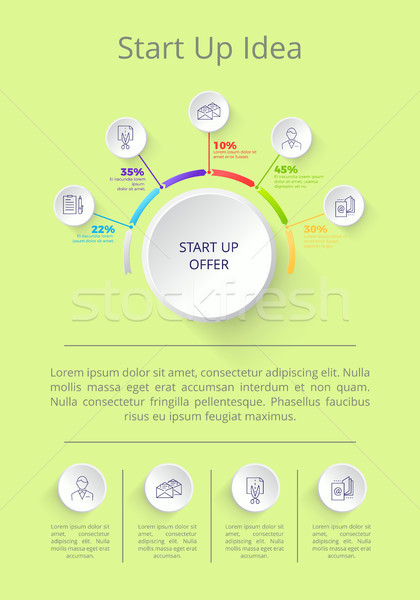 Start Up Idea Poster and Text Vector Illustration Stock photo © robuart