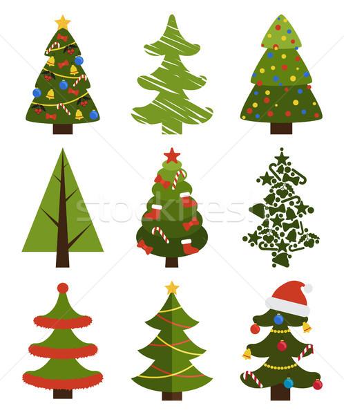 Grande Establecer árbol De Navidad Símbolos