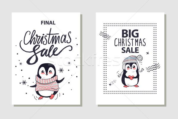 Final grande Navidad venta carteles imagen Foto stock © robuart