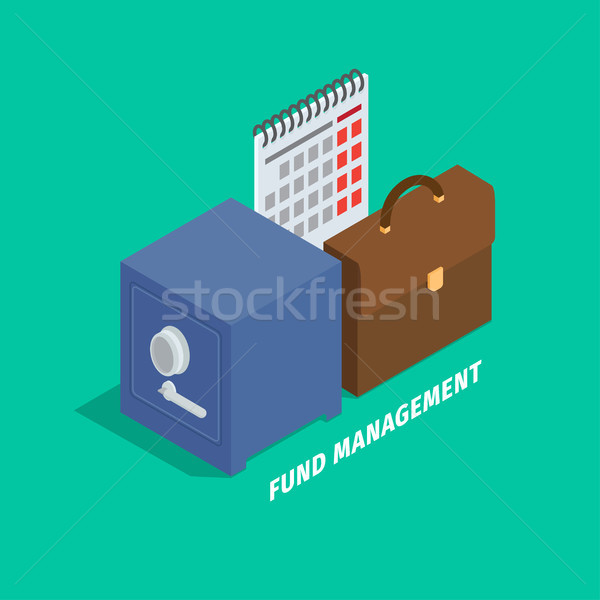 Fund Management in Cartoon Style Flat Art Design Stock photo © robuart