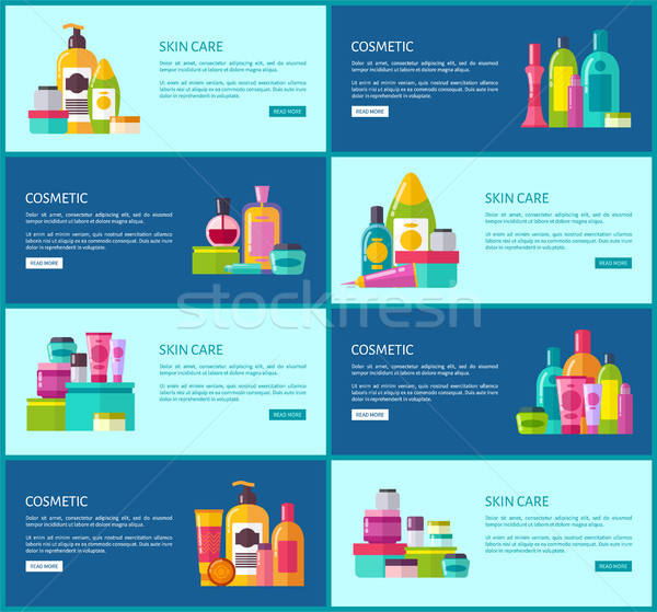 Skincare Cosmetics Promotional Internet Posters Stock photo © robuart