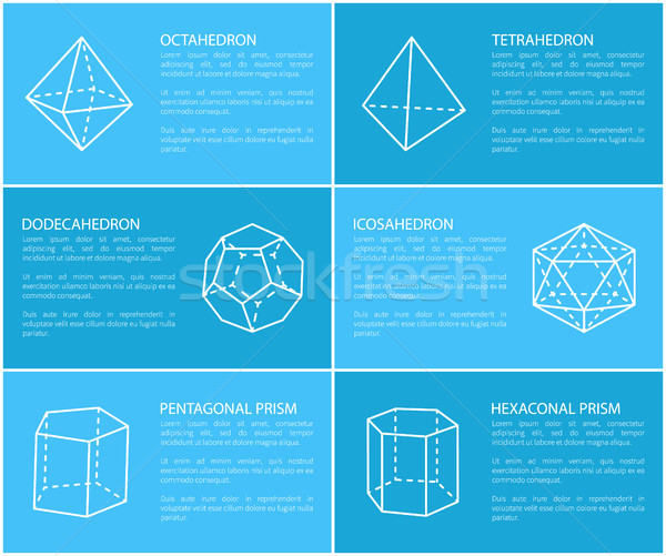 Dodecahedron and Octahedron Vector Illustration Stock photo © robuart