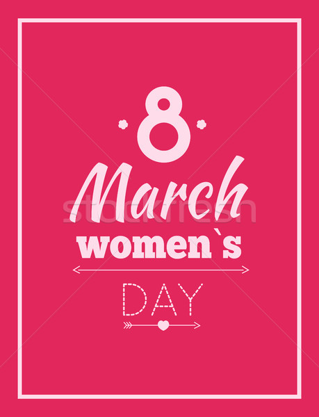 Abstract Eight Symbol, Best Wishes on Women s Day Stock photo © robuart