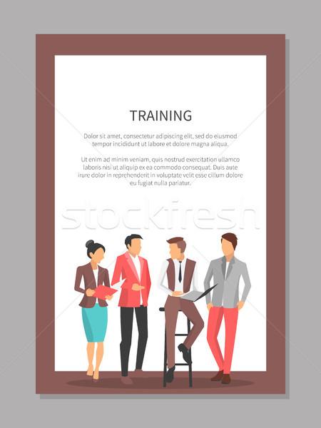 Ludzi biznesu szkolenia plakat ważny rzeczy Zdjęcia stock © robuart