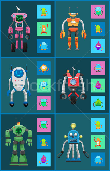 Robotic Creatures Collection Vector Illustration Stock photo © robuart