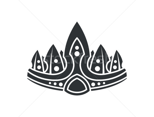 Crown with Ornaments Closeup Vector Illustration Stock photo © robuart