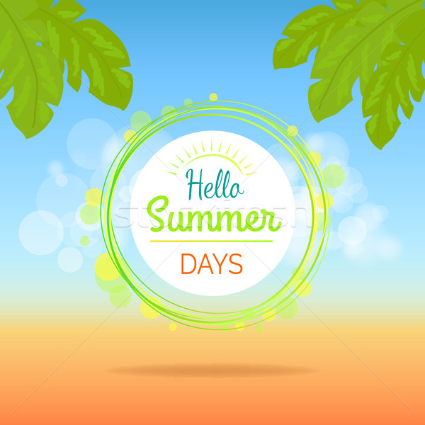 Hello Summer Days Promotional Poster with Text Stock photo © robuart