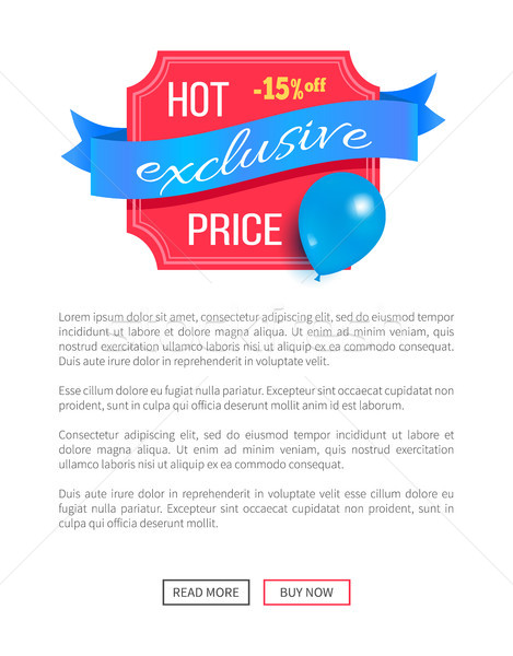 Hot prijs exclusief best korting ballon Stockfoto © robuart