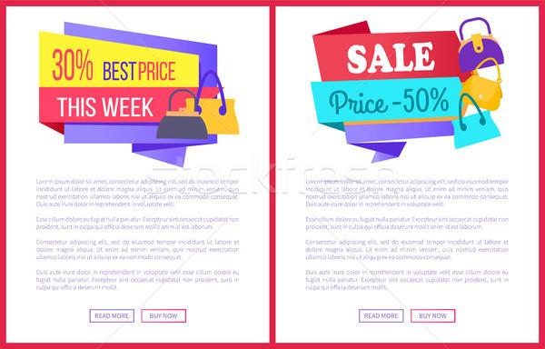 30 legjobb ár hét vásár 50 el Stock fotó © robuart