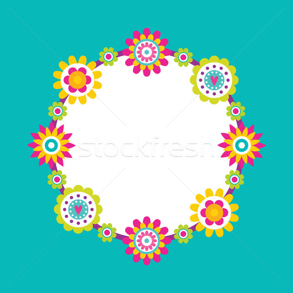 Spare Place for Text Frame Abstract Flower Blossom Stock photo © robuart
