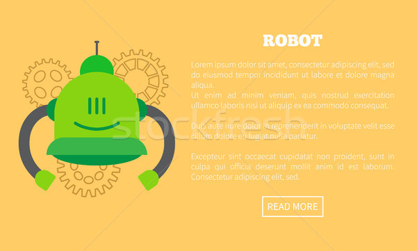 Robot Web Page and Text Sample Vector Illustration Stock photo © robuart