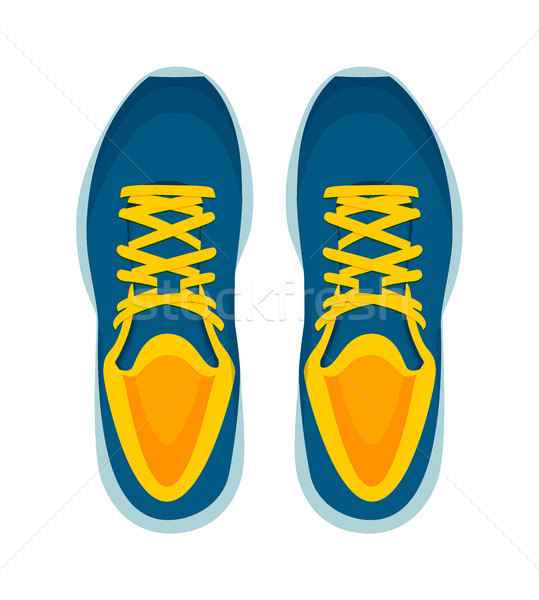 Modern Sneakers Pair Isolated on White Background Stock photo © robuart