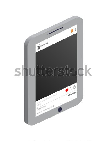 Tablet and Instagram Profile Vector Illustration Stock photo © robuart