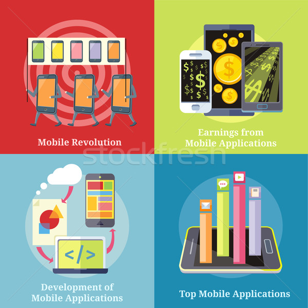 Mobile Applications Concept Stock photo © robuart