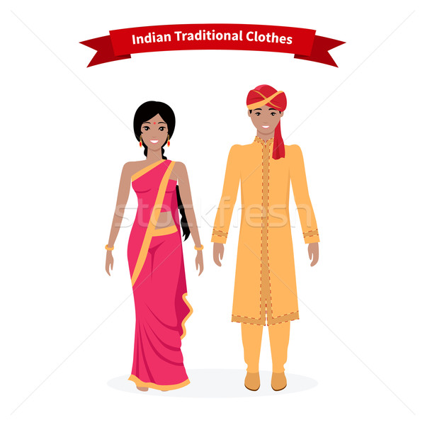 Indian Traditional Clothes People Stock photo © robuart