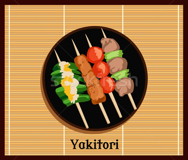 Asian Yakitoris Skewers Set Stock photo © robuart