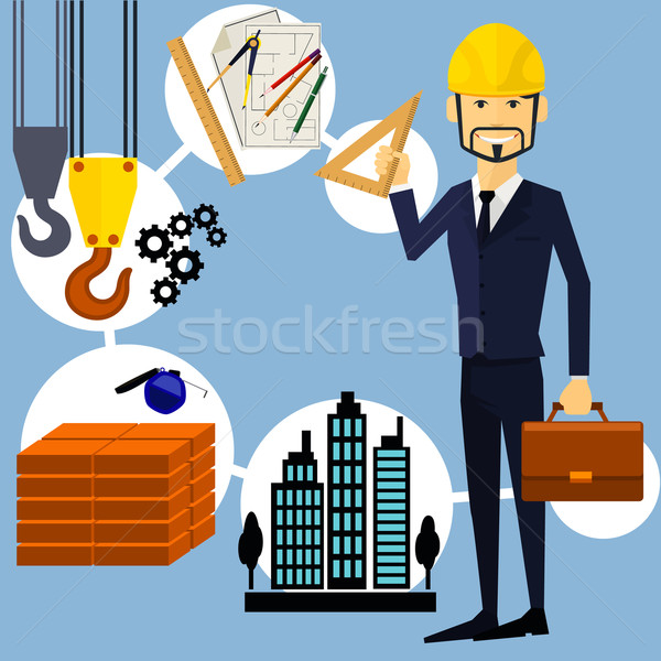 Building Process. Success Engineer Stock photo © robuart