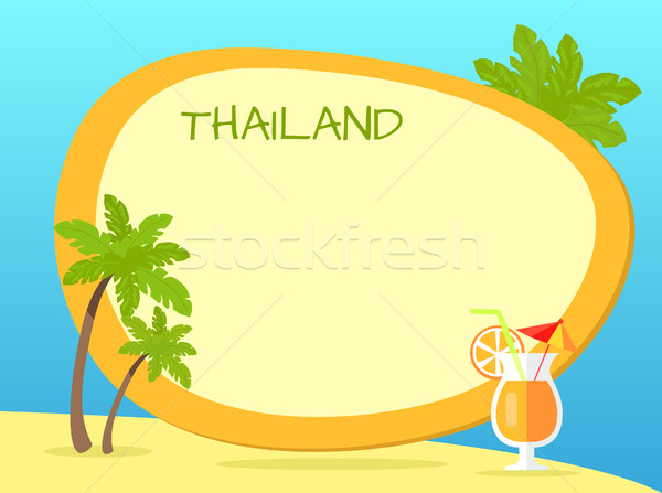 Thailand Inscription in Tag with Yellow Border Stock photo © robuart