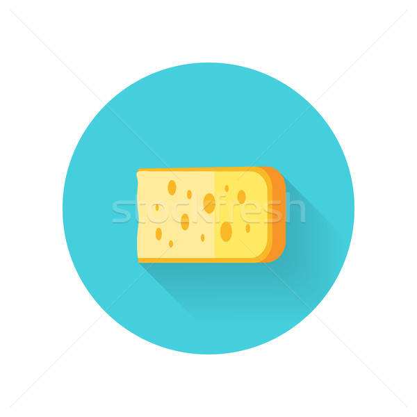 Piece of Cheese Isolated Stock photo © robuart