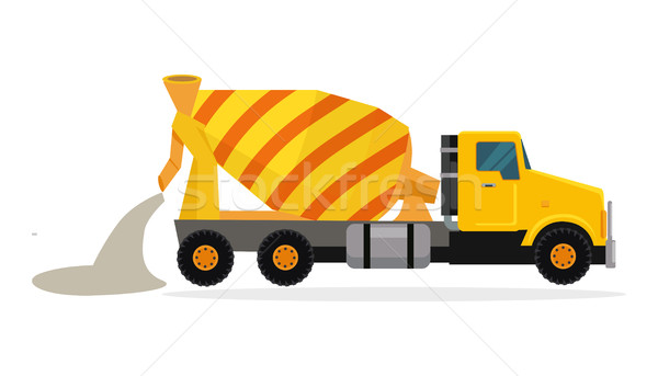 Concrete Mixing Truck Vector in Flat Design Stock photo © robuart