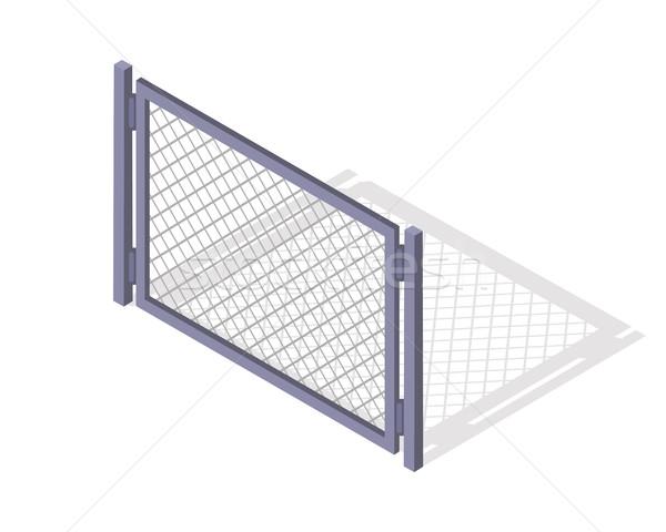 Aço cerca seção vetor isométrica projeção Foto stock © robuart