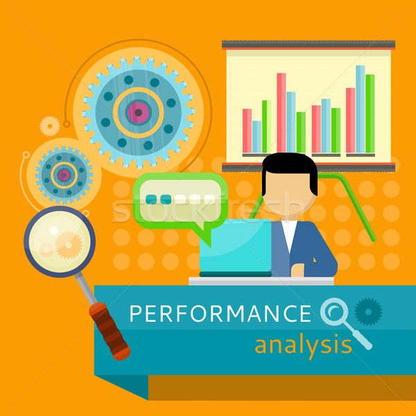 Performance Analysis Banner. Search for Solutions Stock photo © robuart
