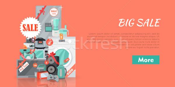 Big Super Web Sale Banner. Household Appliances Stock photo © robuart