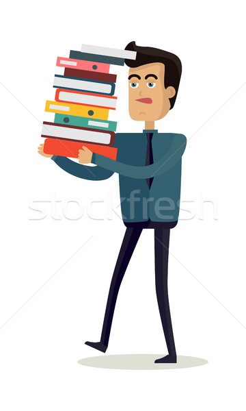 Young Businessman with Documents Stock photo © robuart