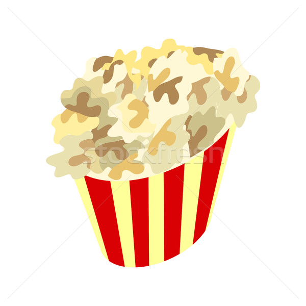 Stock photo: Popcorn Box Icon. Traditional Salty, Sweet Snack