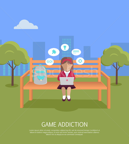 Game Addiction Banner Stock photo © robuart
