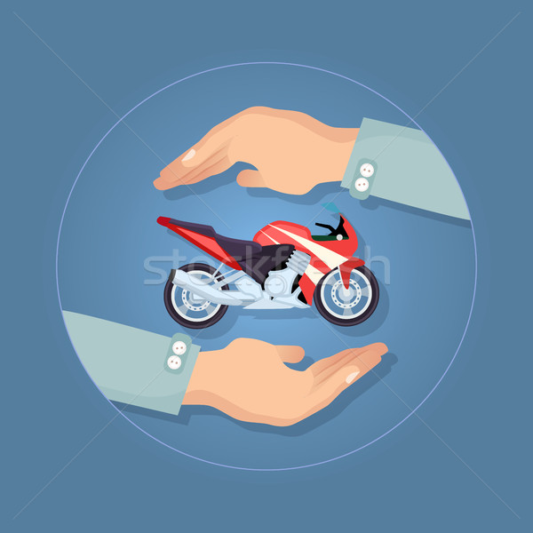 Modern Motorbike Insurance, Service Company Logo. Stock photo © robuart