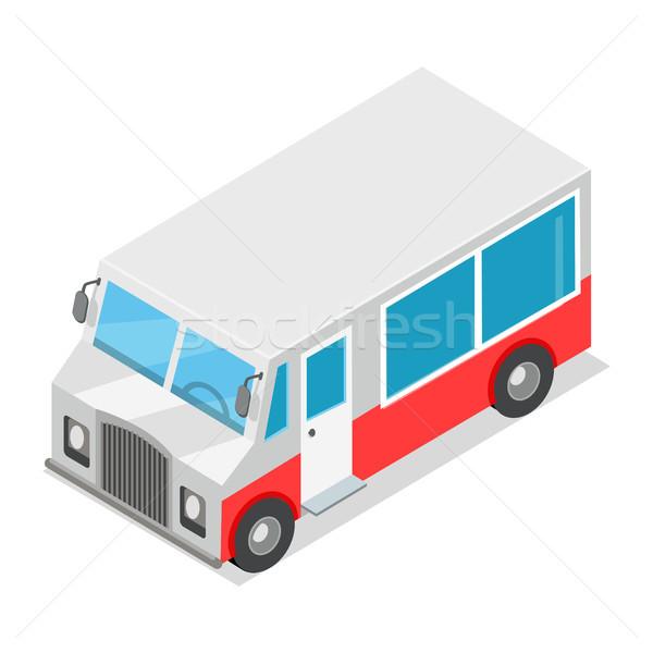 Big Wagon with Streetfood Isolated Illustration Stock photo © robuart